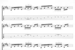 Musik för gitarr Royaltyfri Fotografi