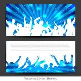 Musik-Fahnen-Sammlung - Vektor Stockfotos