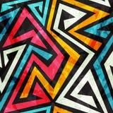 Musik farbiges nahtloses Muster mit Grungeeffekt Stockfotos