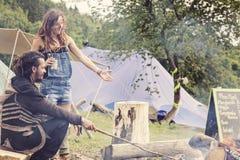 Musik-Festival-lustiger Mond in der Tschechischen Republik Lizenzfreie Stockfotos
