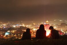 Musik-Festival nachts Lizenzfreie Stockfotografie