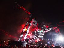 Musik-Festivalmenge Stockfotografie