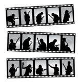 Musik filmstrip stock abbildung