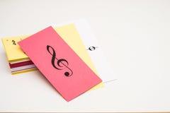 Musik-Flash-Karten Lizenzfreie Stockfotos