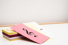 Musik-Flash-Karten Stockbild