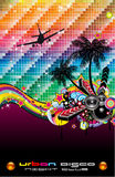 musik för reklamblad för dansdiskohändelse tropisk latinsk Royaltyfri Foto