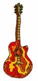 Musik - gitarr på vit bakgrund Royaltyfri Fotografi