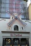 Musik Hall för El Molino i Barcelona, Spanien Arkivbild