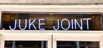 Musik Hall för Juke skarv royaltyfria foton