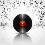 Musik-Hintergrund mit Vinyl - Vektor Stockfotos