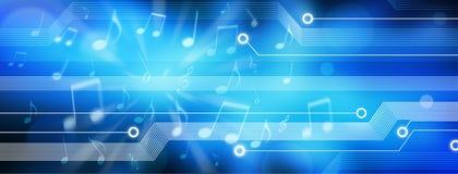 Musik-Hintergrund-Panorama Lizenzfreies Stockfoto