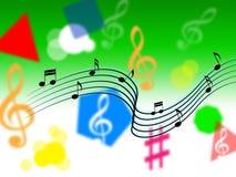 Musik-Hintergrund zeigt Melody Piece Or Singing stock abbildung