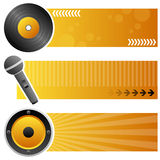 Musik-horizontale Fahnen Stockbilder