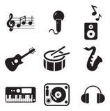 Musik-Ikonen Lizenzfreies Stockfoto