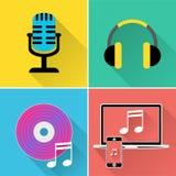 Musik-Ikonen stellt Symbol Melody And Track dar Stockfoto