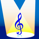 Musik im Scheinwerfer Lizenzfreie Stockfotografie