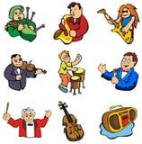Musik im Vektor Lizenzfreies Stockbild