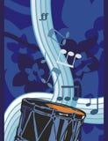 Musik-Instrument-Hintergrund stock abbildung