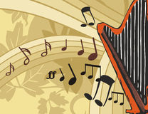 Musik-Instrument-Hintergrund Stockfotos
