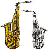Musik instrumenterar serie Arkivfoto