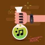 Musik inte i provrör med handen experimentell musik Royaltyfria Foton
