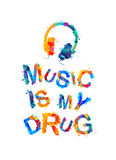 Musik ist meine Droge stock abbildung