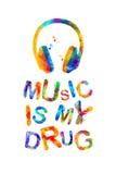 Musik ist meine Droge vektor abbildung