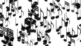Musik 4k merkt Hintergrund, Symbolmelodien-Melodienton, romantische künstlerische Symphonie stock video