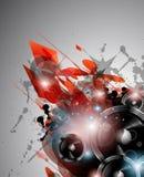 Musik-Klumpenhintergrund für Discotanz internationa Stockfotos