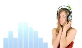 Musik-Mädchen stockfotos