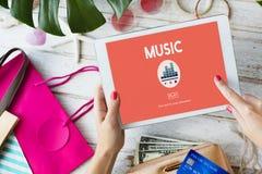 Musik-Melody Rhythm Instruments Vocal Sound-Konzept Lizenzfreie Stockfotografie