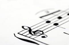 Musik merkt Ergebnishintergrund Stockbild