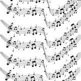 Musik merkt musikalische Anmerkungen Aquarellhintergrund - Vektorillustrator lizenzfreie abbildung