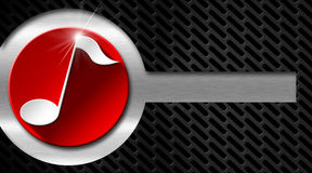 Musik-Metall und rote Visitenkarte stock abbildung