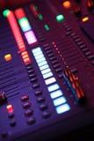 Musik-Mischer-Lichter Lizenzfreie Stockfotos