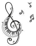 Musik musikanmärkningar, klav royaltyfri illustrationer