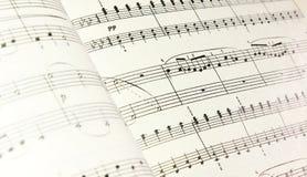 Musik noterar Royaltyfria Bilder