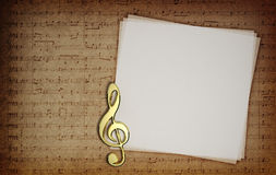 Musik noterar arkivbilder