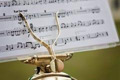 Musik noterar Arkivfoton