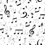 Musik noterar den sömlösa modellen stock illustrationer