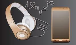 Musik noterar i hjärtan Fotografering för Bildbyråer