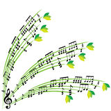Musik noterar sammansättning, stilfull bakgrund för det musikaliska temat, vecto Royaltyfria Foton