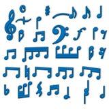 Musik noterar vektordesign för samling 3d stock illustrationer