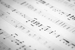 Musik och flik Arkivbild