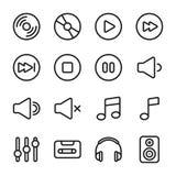 Musik- och ljudsymboler Arkivbilder