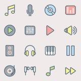Musik- och ljudsymboler Arkivbild