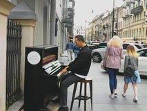 Musik på gatan royaltyfria bilder