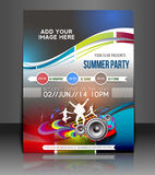 Musik-Partei-Flieger-Design Lizenzfreie Stockbilder