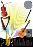 Musik-Party-Hintergrund lizenzfreie abbildung