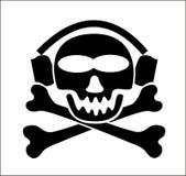 musik piratkopierar varning Royaltyfria Bilder